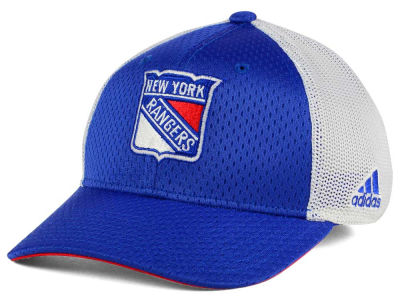 New York Rangers adidas NHL Mesh Flex Cap
