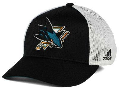 best website eef84 6919a San Jose Sharks adidas NHL Mesh Flex Cap