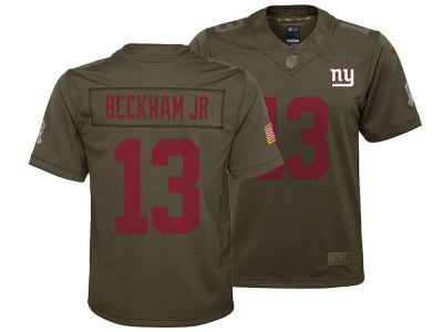 New York Giants Odell Beckham Jr. Nike NFL Youth Salute to Service Jersey