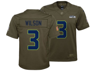 Seattle Seahawks Russell Wilson Nike NFL Youth Salute to Service Jersey