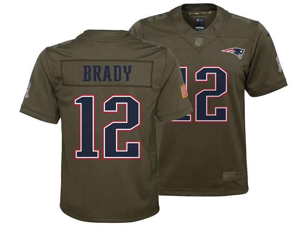 d4ae1efa4 New England Patriots Tom Brady Nike NFL Youth Salute to Service Jersey