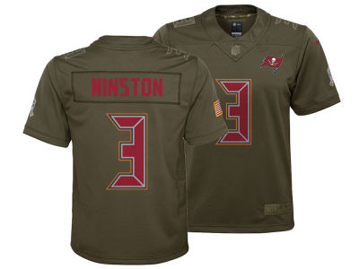 Tampa Bay Buccaneers Jameis Winston Nike NFL Youth Salute to Service Jersey
