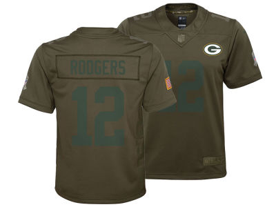 Green Bay Packers Aaron Rodgers Nike NFL Youth Salute to Service Jersey