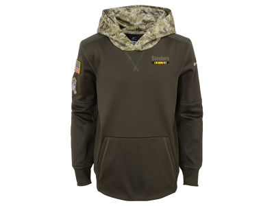 Pittsburgh Steelers Nike NFL Youth Salute To Service Therma Hoodie