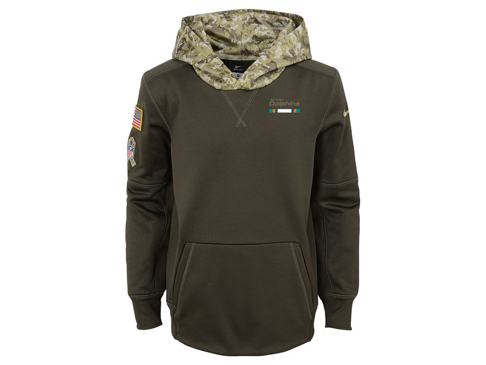 51cd44930 Miami Dolphins Nike NFL Youth Salute To Service Therma Hoodie