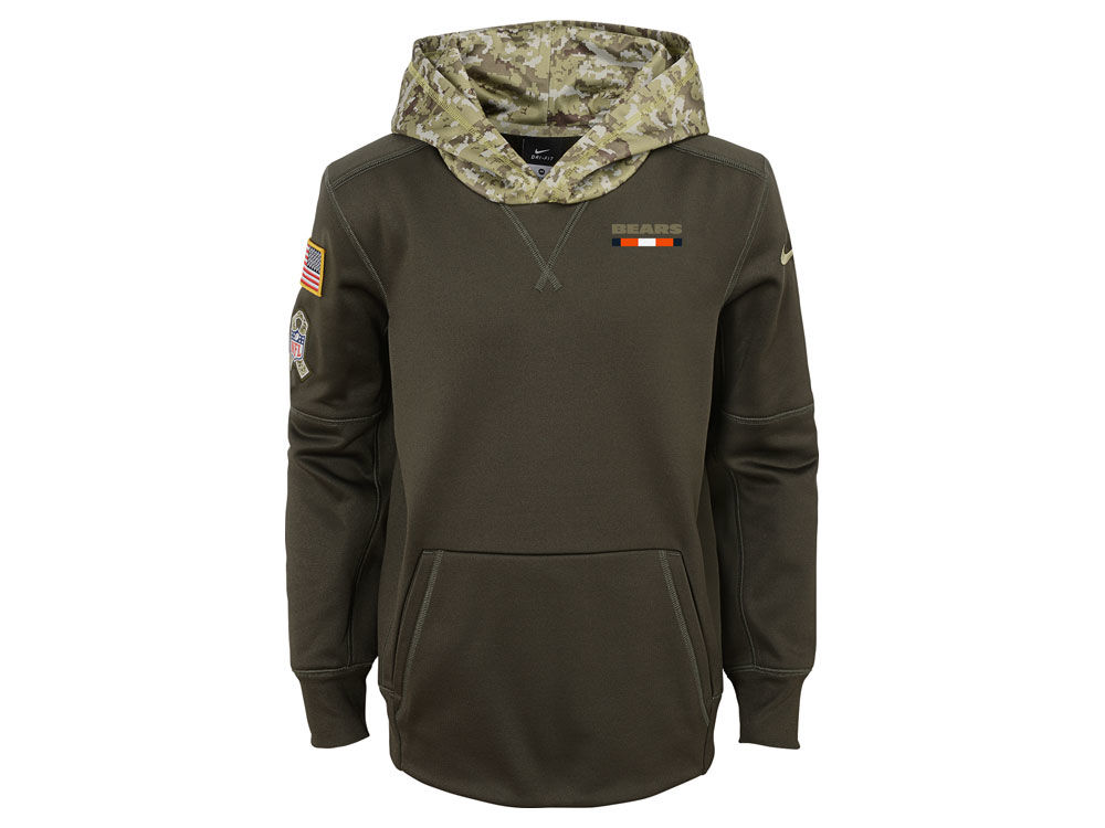 08741c9d3 Chicago Bears Nike NFL Youth Salute To Service Therma Hoodie