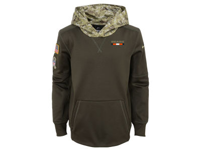Chicago Bears Nike NFL Youth Salute To Service Therma Hoodie
