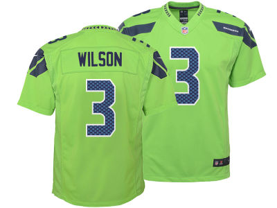 Seattle Seahawks Russell Wilson Nike NFL Kids Color Rush Jersey