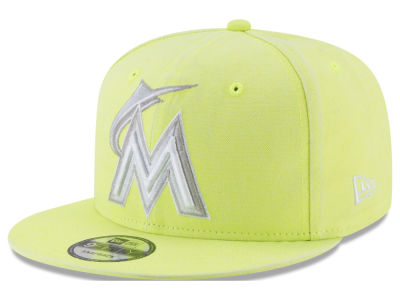 Miami Marlins New Era MLB Neon Time 9FIFTY Snapback Cap