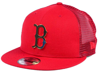 Boston Red Sox New Era MLB Color Metal Mesh Back 9FIFTY Cap