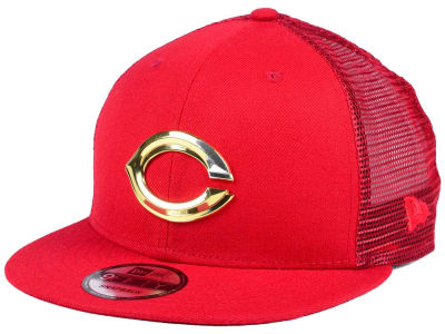Cincinnati Reds New Era MLB Color Metal Mesh Back 9FIFTY Cap