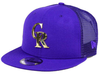 Colorado Rockies New Era MLB Color Metal Mesh Back 9FIFTY Cap