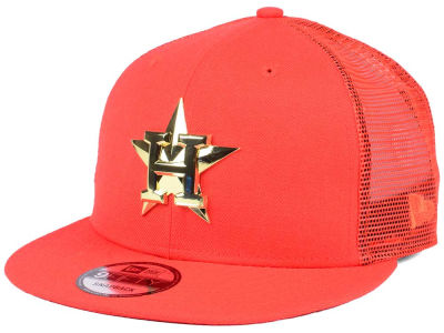 Houston Astros New Era MLB Color Metal Mesh Back 9FIFTY Cap