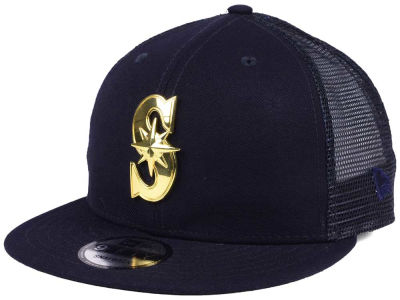 Seattle Mariners New Era MLB Color Metal Mesh Back 9FIFTY Cap