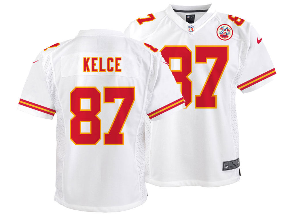 Kansas City Chiefs Travis Kelce Nike NFL Youth Game Jersey  e5bf148af