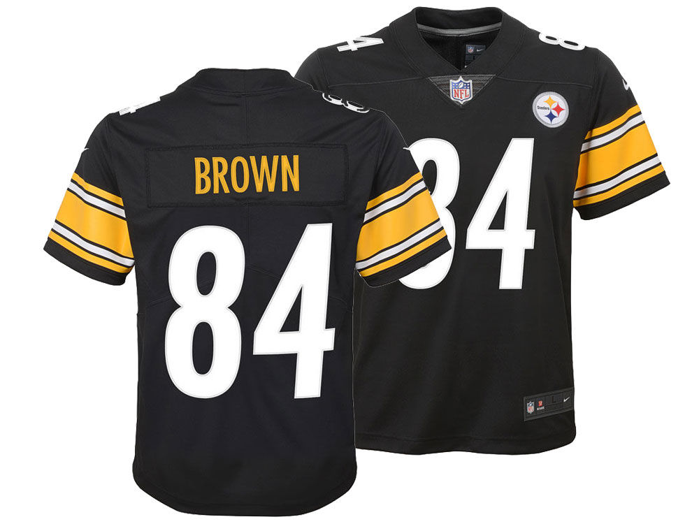 new arrival e92d4 f2ada usa pittsburgh steelers nike youth 84 antonio brown replica ...
