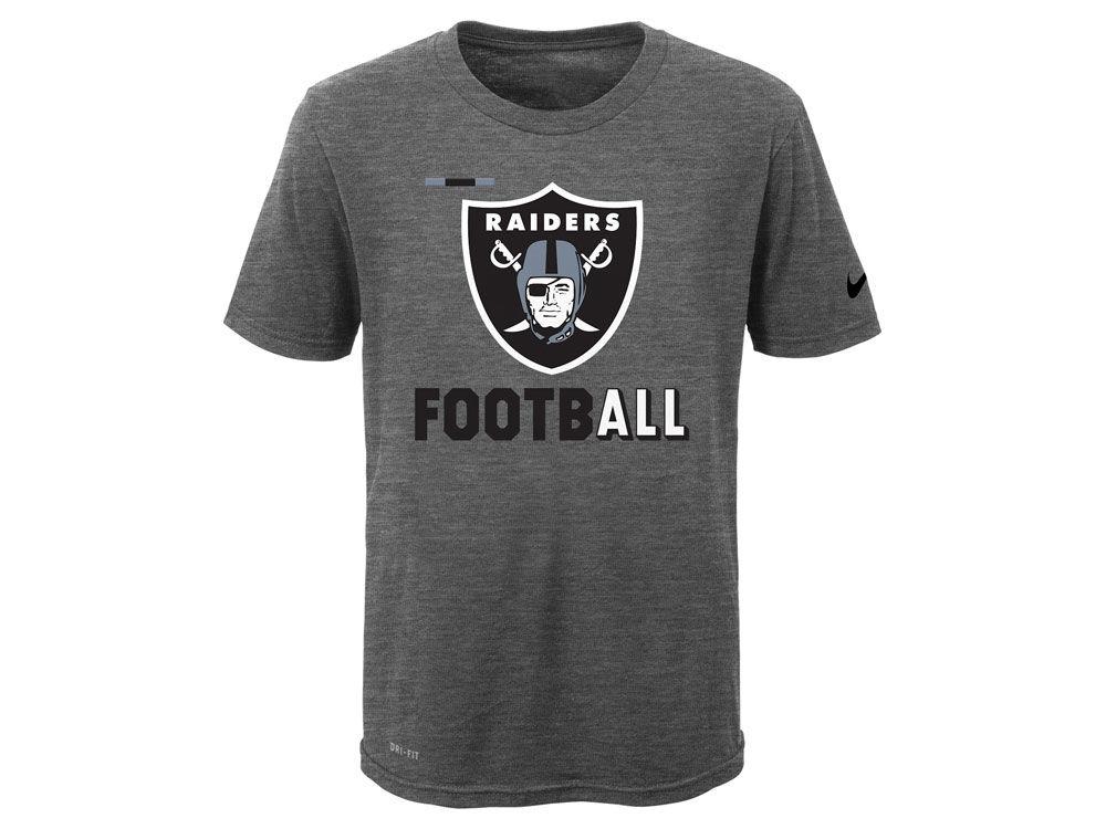 sports shoes 2e1b0 7e8fa Oakland Raiders Nike NFL Youth Legend Football T-Shirt