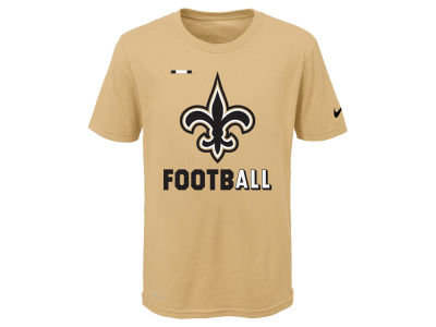 New Orleans Saints Nike NFL Youth Legend Football T-Shirt