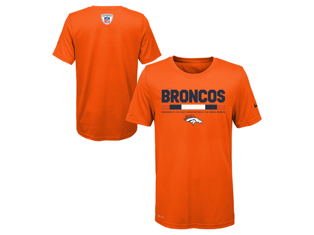 b5290856 Denver Broncos Nike NFL Youth Legend Staff T-Shirt