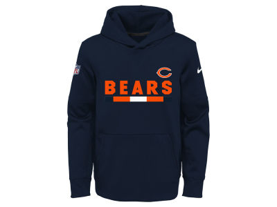 Chicago Bears Nike NFL Youth Pull Over Therma Hoodie