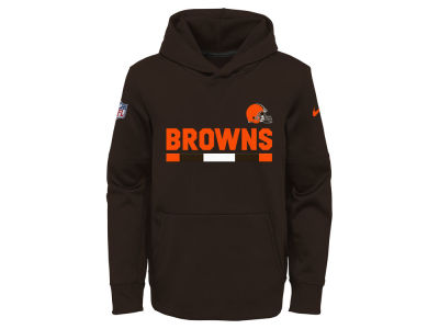 Cleveland Browns Nike NFL Youth Pull Over Therma Hoodie