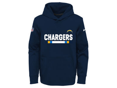 San Diego Chargers Nike NFL Youth Pull Over Therma Hoodie