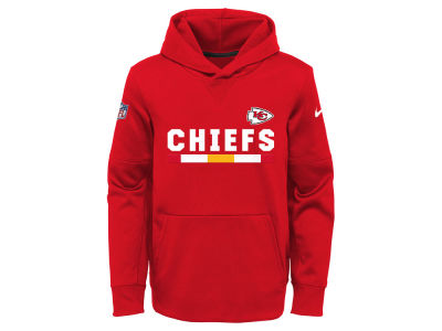 Kansas City Chiefs Nike NFL Youth Pull Over Therma Hoodie