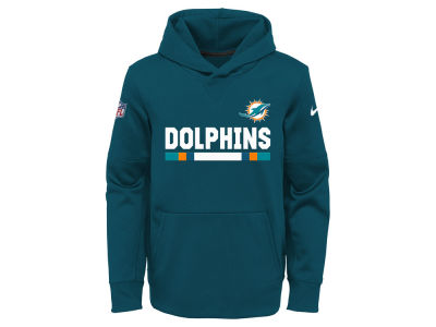 Miami Dolphins Nike NFL Youth Pull Over Therma Hoodie