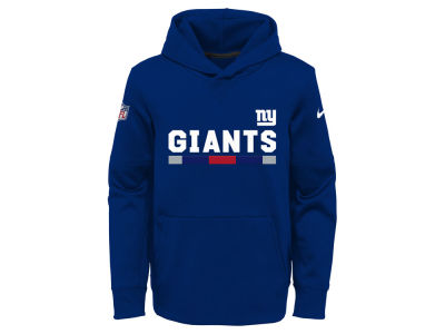 New York Giants Nike NFL Youth Pull Over Therma Hoodie