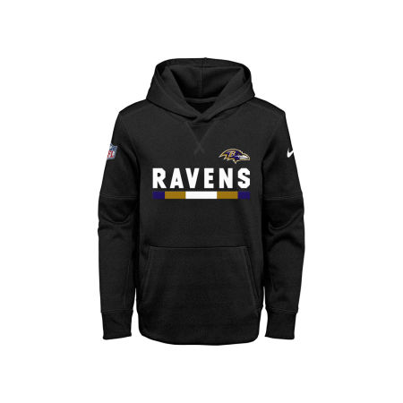 Baltimore Ravens Nike NFL Youth Pull Over Therma Hoodie