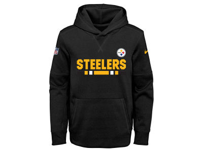 Pittsburgh Steelers Nike NFL Youth Pull Over Therma Hoodie