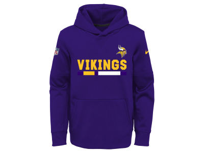 Minnesota Vikings Nike NFL Youth Pull Over Therma Hoodie