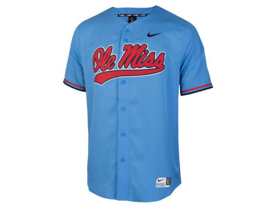 Ole Miss Rebels Nike NCAA Men's Full Button Vapor Elite Baseball Jersey