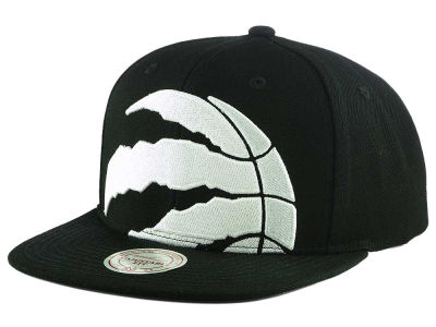 Toronto Raptors Mitchell & Ness NBA XL Cropped Whiteout Snapback Cap