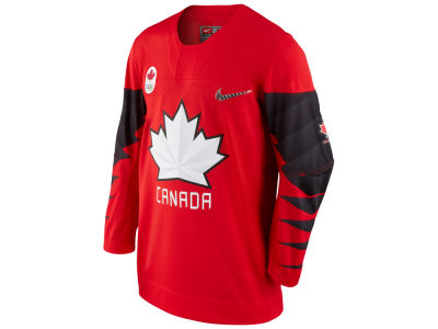 Canada Hockey Nike 2018 Olympic Men's Twill Hockey Jersey