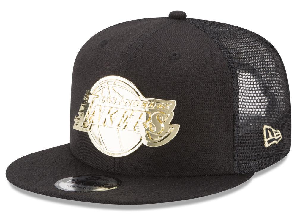 Los Angeles Lakers New Era NBA Metal Mesh 9FIFTY Snapback Cap  be191f279f