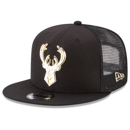 Milwaukee Bucks New Era NBA Metal Mesh 9FIFTY Snapback Cap