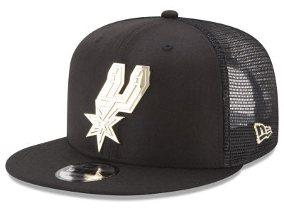 San Antonio Spurs New Era NBA Metal Mesh 9FIFTY Snapback Cap