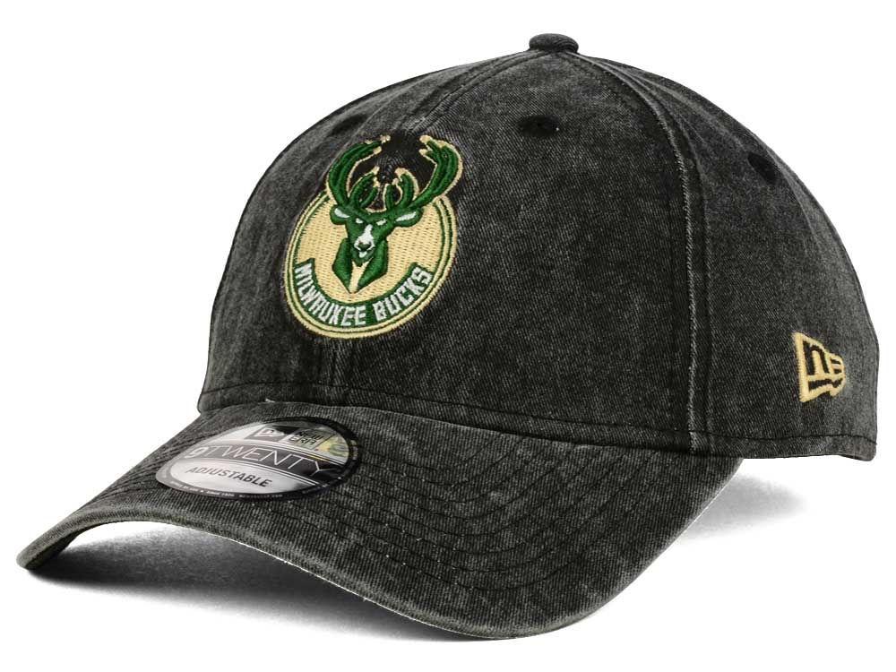 Milwaukee Bucks New Era NBA Italian Wash 9TWENTY Dad Hat  1ead2c02bb44