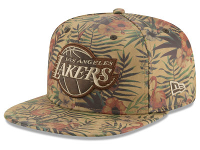 Los Angeles Lakers New Era NBA Smoove Leather 9FIFTY Snapback Cap