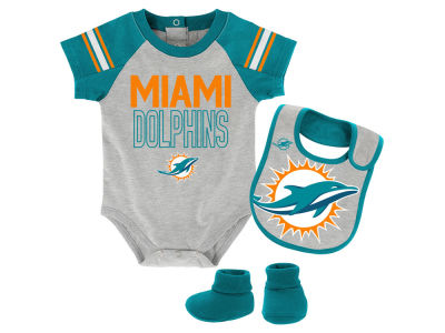 Miami Dolphins Outerstuff NFL Infant Blitz Creeper Set