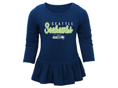 d3c36e3deb2 ... Dark Blue Seattle Seahawks Outerstuff NFL Kids Girls Tiny Trainer Pant  Set ...
