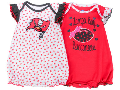 Tampa Bay Buccaneers Outerstuff NFL Newborn Heart Fan 2 Pc Creeper Set