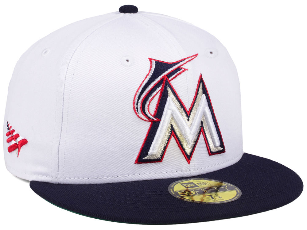best loved 96fd6 97732 ... white navy 20927382 larger image 4df14 34db1  official miami marlins planes  mlb x americana 59fifty cap 69e9a 95c88