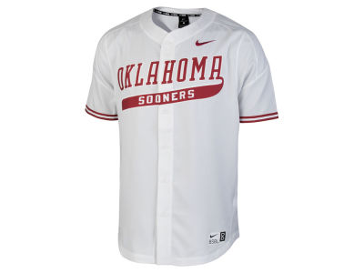 Oklahoma Sooners Nike NCAA Men's Full Button Vapor Elite Baseball Jersey