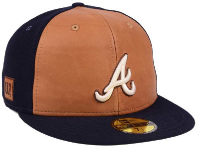Atlanta Braves New Era MLB X Wilson Leather Front 59FIFTY Cap
