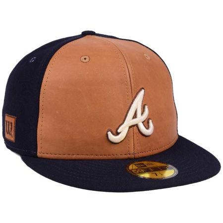 Atlanta Braves New Era MLB X Wilson Leather Front 59FIFTY Cap