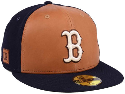 Boston Red Sox New Era MLB X Wilson Leather Front 59FIFTY Cap