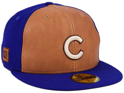 Chicago Cubs New Era MLB X Wilson Leather Front 59FIFTY Cap