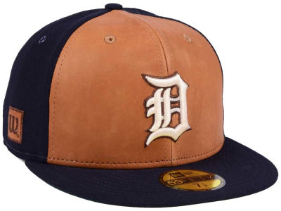 new concept 4ee2c 8904b ... official detroit tigers new era mlb x wilson leather front 59fifty cap  b76b9 6e78e